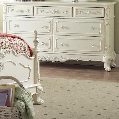 Homelegance 1386 Victorian Double Dresser