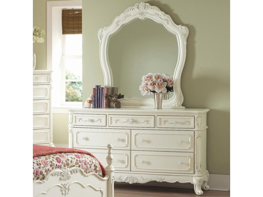 Mirror Shown on Dresser