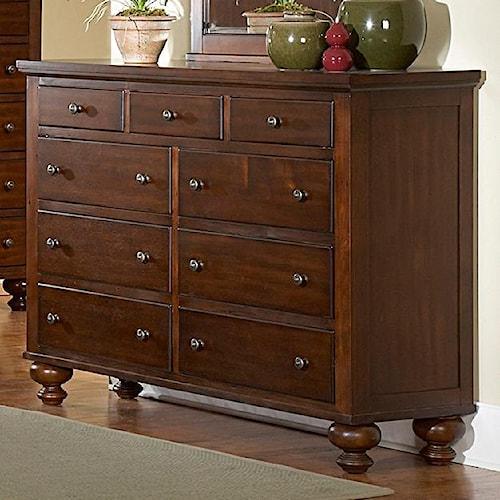 Vendor 2258 1422 9 Drawer Dresser