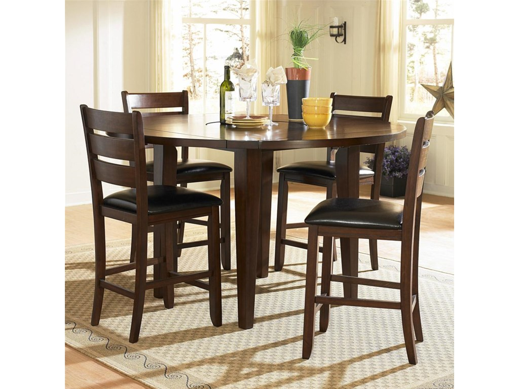 Shown with Round Counter Height Drop Leaf Table