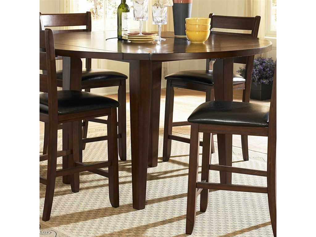Round Counter Height Drop Leaf Table