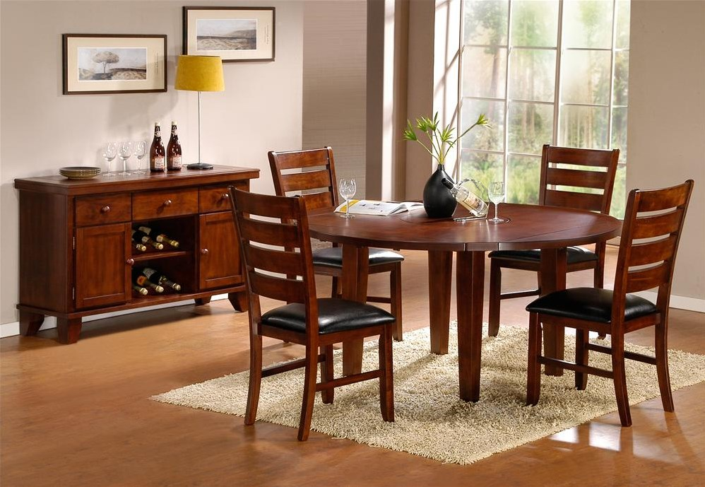 Shown with Round Drop Leaf Table and Server