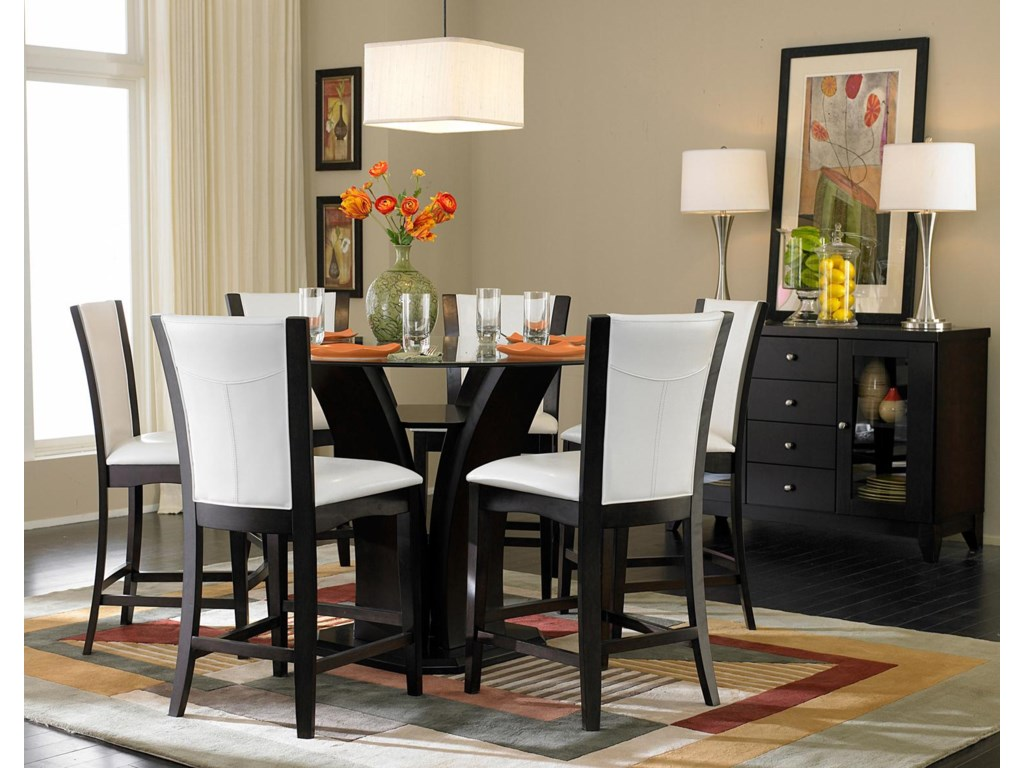 Shown in Room Setting with Counter Height Dining Table and Server