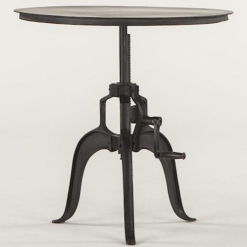 BeGlobal FIL Metal Round Adjustable Base Table