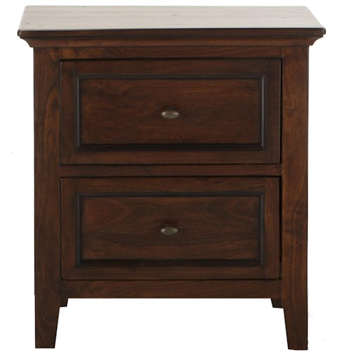 BeGlobal Timber Ridge Night Stand with 2 Drawers