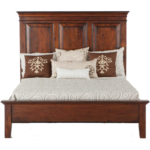 BeGlobal Timber Ridge King Panel Bed with Tapered Feet