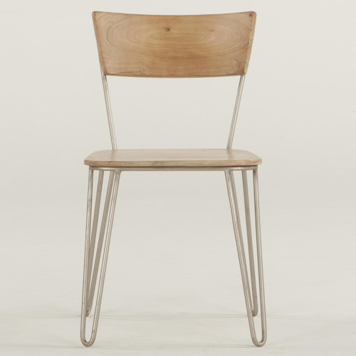BeGlobal Vail Dining Side Chair with Open Back and Metal Frame