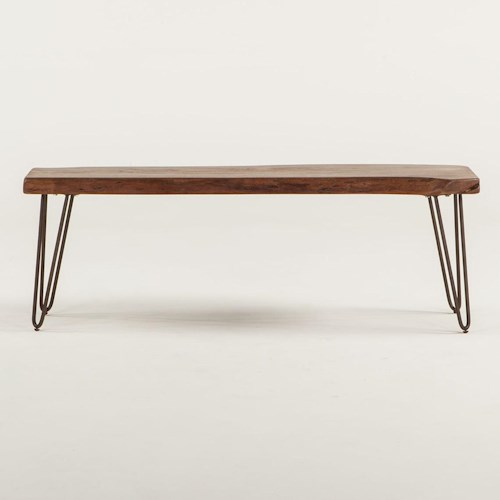 BeGlobal Vail Live Edge Dining Table with Metal Legs