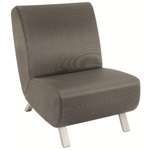 Homecrest Airo2 Armless Upholstered Chair