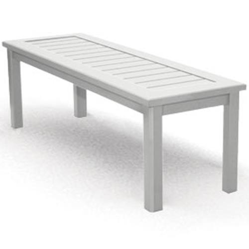 Homecrest Dockside Slat Rectangular Bench with Slat Design and Block Feet