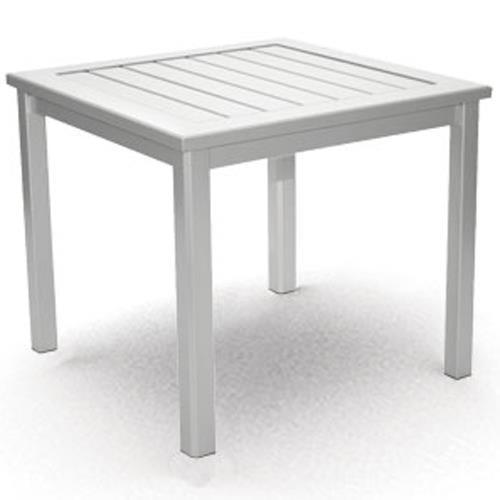 Homecrest Dockside Slat End Table with Block Feet
