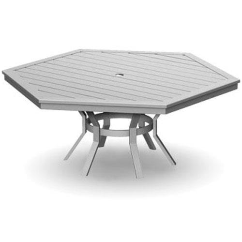 Homecrest Kashton Hexagonal Dining Table with Umbrella Hole