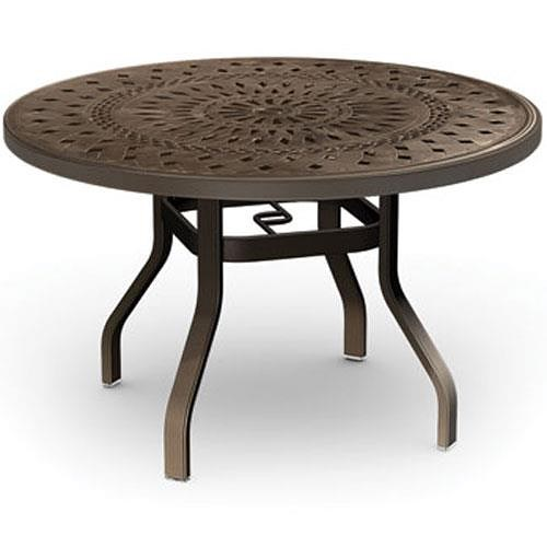 Homecrest Kensington Collection Round Dining Table with Intricate Design