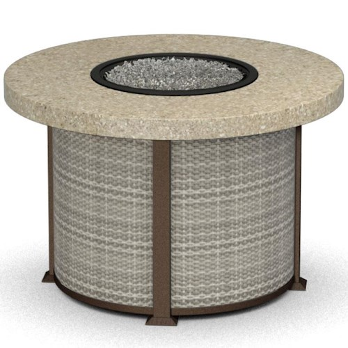 Homecrest Vision Round Dining Table with Fire Element