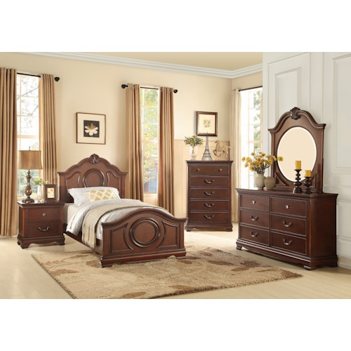 Homelegance 2039C Traditional Twin Bedroom Group