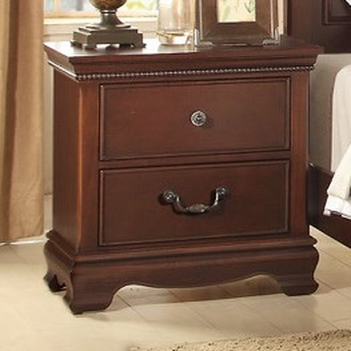 Homelegance 2039C Traditional Night Stand with Two Drawers