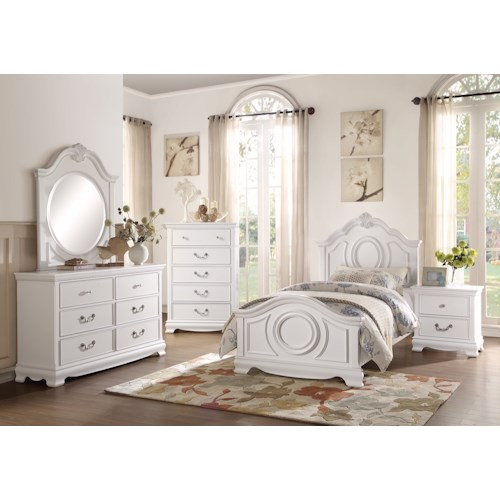 Homelegance 2039W Traditional Twin Bedroom Group