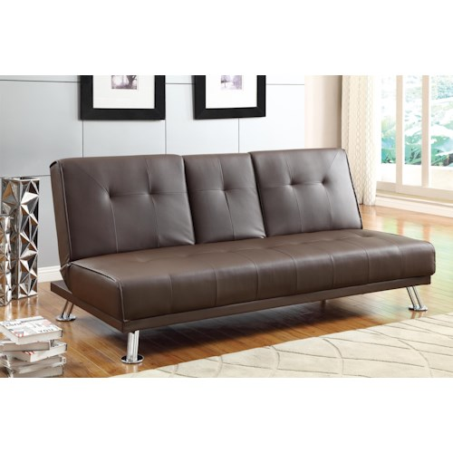 Homelegance 4825 Casual Click Clack Futon with Tufted Back
