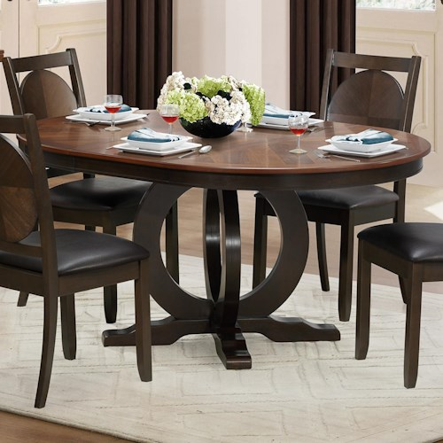 Homelegance 5111 Round Dining Table with Circular Base