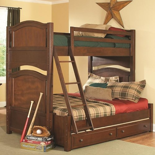 Homelegance Aris Casual Youth Bunkbed with Trundle