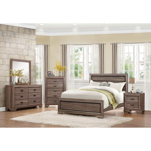 Homelegance Beechnut King Bedroom Group