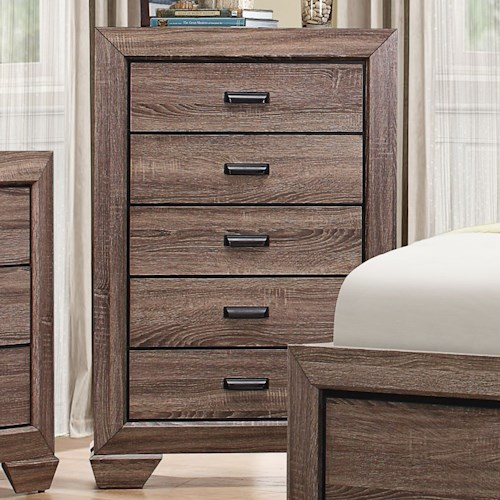 Homelegance Beechnut Contemporary 5-Drawer Chest with Dovetail Joinery