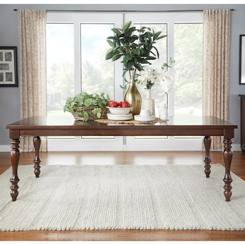 Homelegance Benwick Traditional Dining Table with Turned Legs