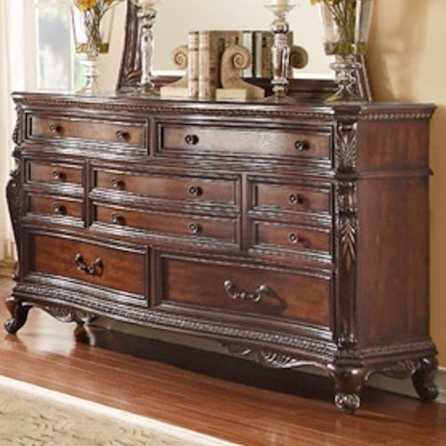 Homelegance Bonaventure - 1935 Traditional 7-Drawer Dresser with Egg and Dart Molding