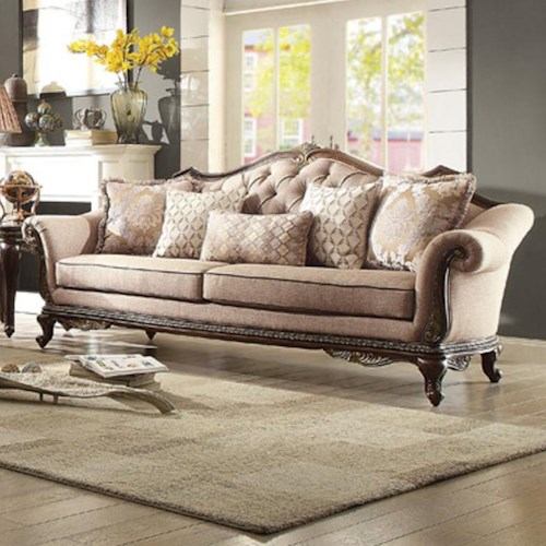 Homelegance Bonaventure Sofa with Tufted Back