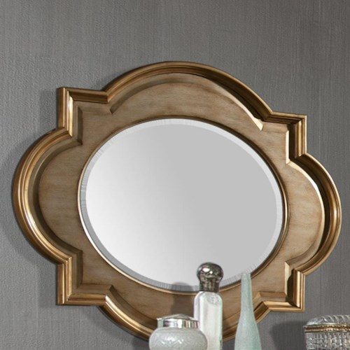 Homelegance Chambord Wall Mirror with Oval-Shaped Glass