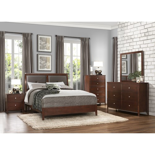 Homelegance Cullen Contemporary Queen Bedroom Group