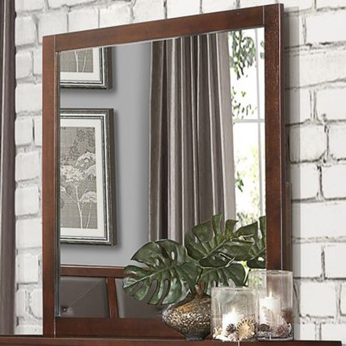 Homelegance Cullen Contemporary Mirror with Wood Frame