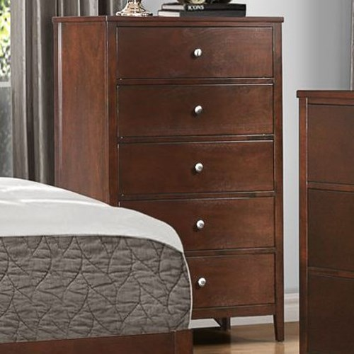 Homelegance Cullen Contemporary 5-Drawer Chest of Drawers with Dovetail Joinery