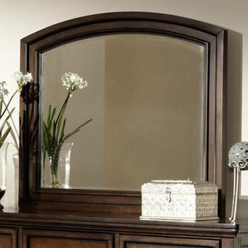 Homelegance Cumberland  Wooden Framed Mirror with Beveled Edge