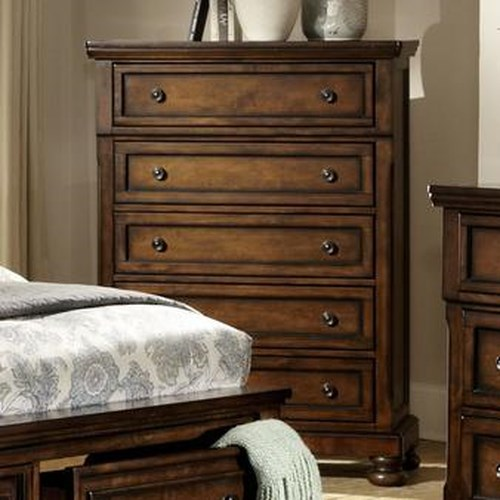 Homelegance Cumberland  Transitional 5 Drawer Chest