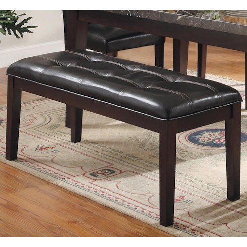 Homelegance Decatur Upholstered Dining Bench with Tufted Seat