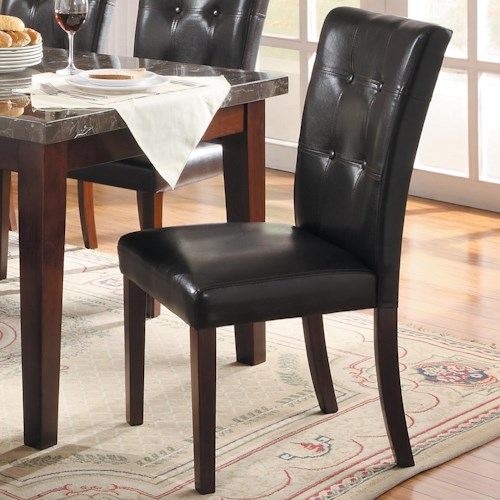 Homelegance Decatur Upholstered Dining Side Chair with Tufted Seat Back