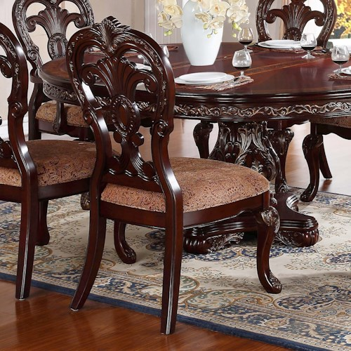 Homelegance Deryn Park Traditional Dining Table And Chair: Homelegance Deryn Park Traditional Dining Side Chair With