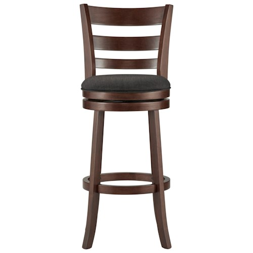 Homelegance Edmond Swivel Bar Stool with Upholstered Seat