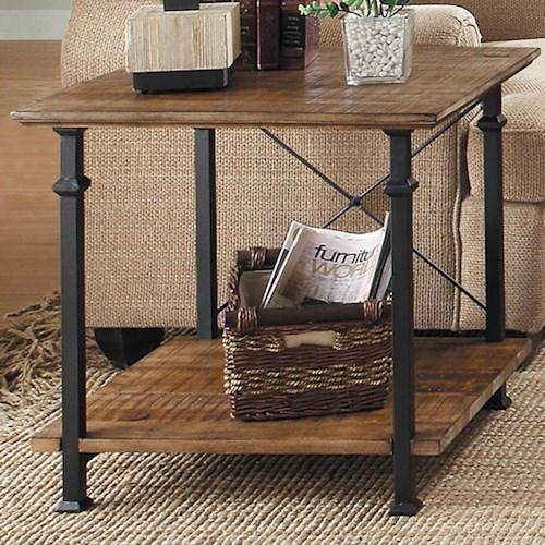 Homelegance Factory Collection End Table with 1 Shelf