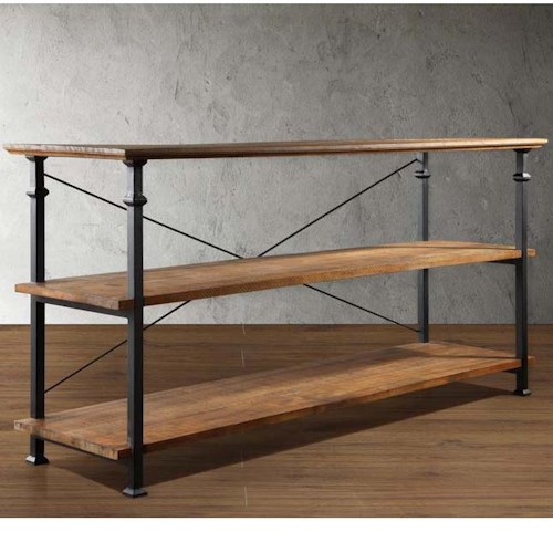 Homelegance Factory Collection Sofa Table with 2 Shelves