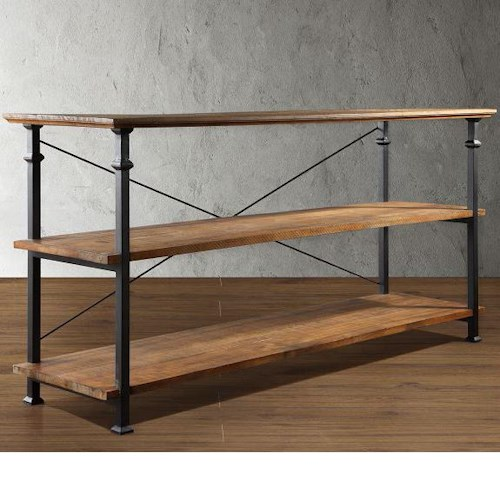 Homelegance Factory Collection Small TV Stand with 2 Shelves
