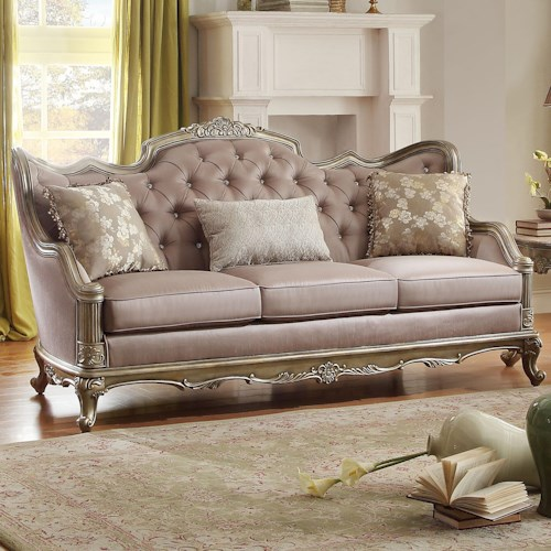 Homelegance Fiorella Sofa with Jewel Tufting