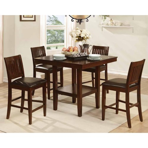 Homelegance Galena 5050 5 Piece Counter Height Table & Chair Set