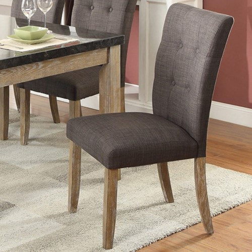 Homelegance Huron Contemporary Dining Side Chair with Button Tufting