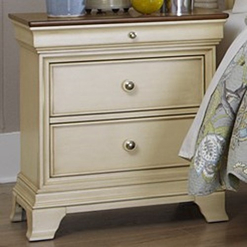 Homelegance Inglewood Cottage 2-Drawer Nightstand with Two Tone Finish