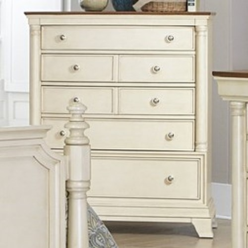 Homelegance Inglewood Cottage 5-Drawer Chest with Two-Tone Finish