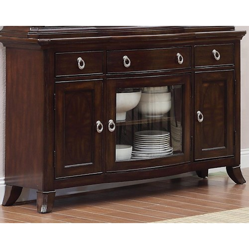 Homelegance Keegan Sideboard with 3 Doors