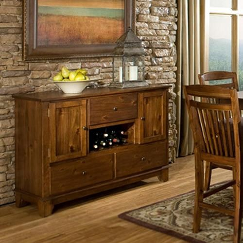 Homelegance Marcel Dining Server w/ Wine Rack