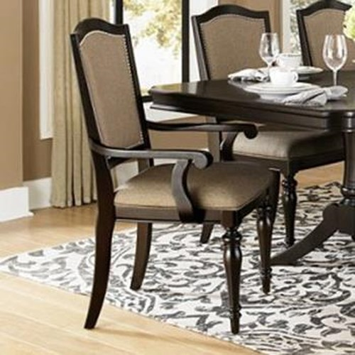 Homelegance Marston Dining Arm Chair w/ Upholstered Seat and Back Panel